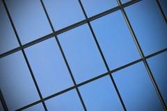 Backgound: finestra di vetro Fotografie Stock