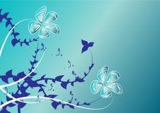 Backgound floreale blu Immagine Stock