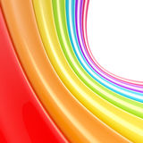 Backgound made of rainbow colored stripes. Abstract glossy backgound made of glossy rainbow colored stripes vector illustration