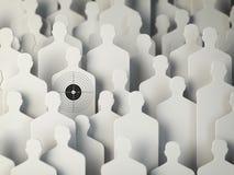 Backgound od kształtów ludzie z celem jeden Pojęcie dla brzęczenia Obraz Stock