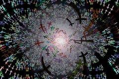 backgound pełną przez przestrzeń deseniową ilustracja wektor
