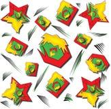 Backgound rojo de Abstarct y verde geométrico stock de ilustración
