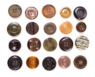 Backgound of various sewing button. On the white Royalty Free Stock Photography