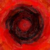 Backgr красного оранжевого черного влияния текстуры картины эскиза красивое Стоковая Фотография