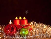 backgr миражирует орнаменты 2 рождества Стоковые Фото