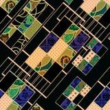 Backgr цветов геометрической абстрактной картины элементов безшовной ретро иллюстрация штока