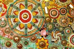 五颜六色的玻璃马赛克艺术和抽象墙壁backgr 免版税库存照片