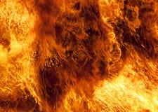 Backgr bruciante della fiamma del fuoco Fotografia Stock