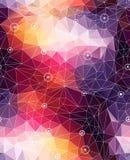 Backgr coloré de modèle de triangle abstraite sans couture Photo libre de droits