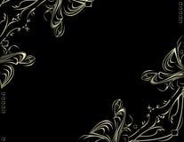 Backgr décoratif noir argenté Photos libres de droits