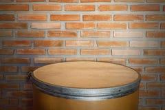 Backgr determinado de la pared de ladrillo del frente de papel del tanque Foto de archivo