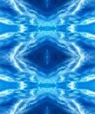 Backgr digitalmente migliorato e manipolato bianco e blu di fantasia illustrazione vettoriale