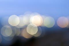 Backgr doux rose, bleu, vert clair et jaune coloré de bokeh Photo stock