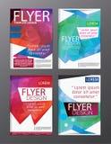Backgr moderne de tract d'insecte de rapport annuel de calibre de conception de disposition Image libre de droits