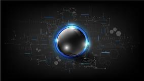 Backgr moderno del extracto de la esfera de la placa de circuito global tecnológica Imagen de archivo libre de regalías