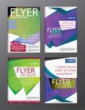 Backgr moderno do folheto do inseto do informe anual do molde do projeto da disposição Fotos de Stock