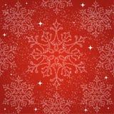 Backgr sem emenda do teste padrão dos flocos de neve do Feliz Natal ilustração stock