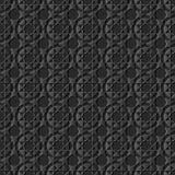 backgr senza cuciture di arte 3D della geometria del modello islamico di carta scuro dell'incrocio illustrazione di stock