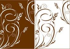 Backgraund das flores e dos redemoinhos ilustração do vetor