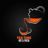 Backgraund del menú del diseño de la taza de té Foto de archivo