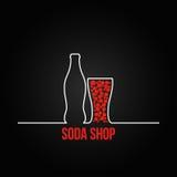 Backgraund del menú del diseño del chapoteo de la botella de soda Imagen de archivo libre de regalías