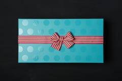 Backgraund noir de boîte-cadeau Photos libres de droits