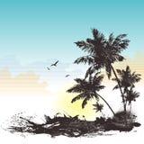 Backgraund tropical illustration de vecteur