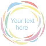 Backgraund z koloru okręgiem na białym plecy Fotografia Royalty Free