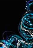 Backgro abstracto del efecto de la luz eléctrica ilustración del vector