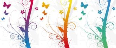 Backgro abstrato da flor do grunge Ilustração Stock