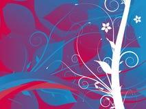Backgro abstrato da flor do grunge Ilustração do Vetor