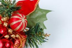 backgro bożych narodzeń dekoraci odosobniony biel Obrazy Royalty Free
