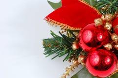backgro bożych narodzeń dekoraci odosobniony biel Zdjęcia Royalty Free