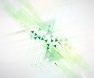 Backgro de alta tecnología del concepto de la informática del infinito del verde del eco Imagenes de archivo