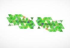Backgro de alta tecnología del concepto de la informática del infinito del verde del eco Imagen de archivo libre de regalías