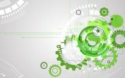 Backgro de alta tecnología del concepto de la informática del infinito del verde del eco libre illustration