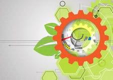 Backgro de alta tecnología del concepto de la informática del infinito del verde del eco stock de ilustración