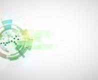 Backgro de alta tecnología del concepto de la informática del infinito del verde del eco Fotografía de archivo libre de regalías