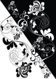 backgro decorativo Preto-branco ilustração do vetor