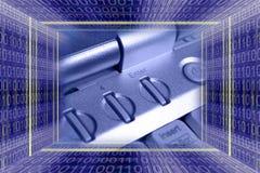 Backgro di tecnologia dell'informazione Immagini Stock Libere da Diritti