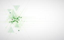 Backgro do conceito da informática da infinidade do verde do eco da alta tecnologia Foto de Stock
