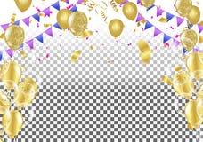 Backgro elegante común del festival de la celebración del partido del globo del vector libre illustration