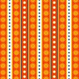 Backgro rayado y floral inconsútil ilustración del vector