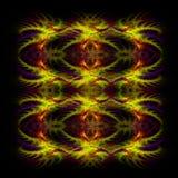 Backgro simétrico vermelho e amarelo abstrato do fractal Imagem de Stock
