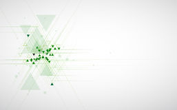 Backgro van het de computertechnologieconcept van de high-tech eco groene oneindigheid royalty-vrije illustratie