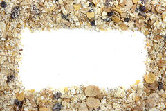 Backgrod blanc d'isolement de céréale et de baie Photos libres de droits