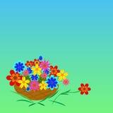 backgrokorgen blommar green stock illustrationer