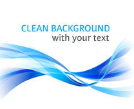 Backgrond limpo da onda azul abstrata horizontal Fotografia de Stock