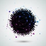 Абстрактное backgrou вектора сетевых подключений глобуса Стоковое фото RF