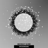 Backgrou abstracto del vector de las conexiones de red del globo Foto de archivo libre de regalías